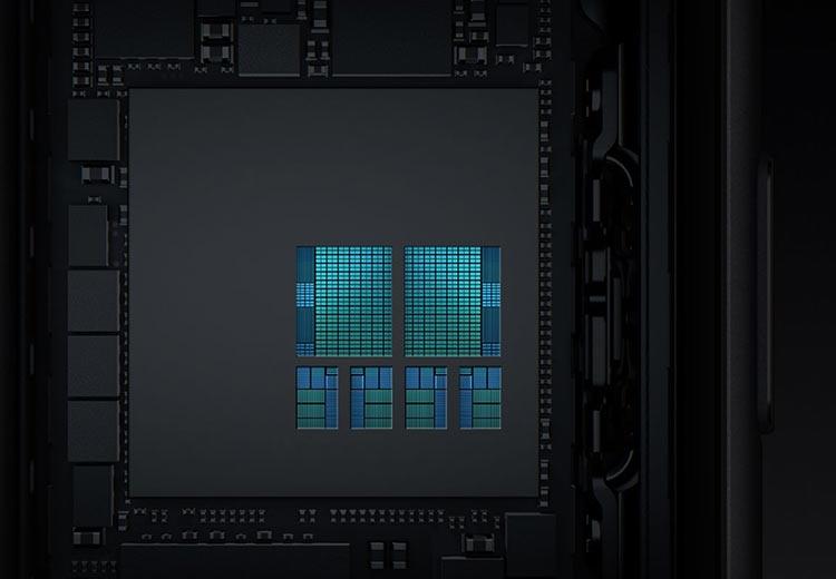 Обновлённые ядра CPU на общей площади кристалла A11: 2 высокопроизводительных и 4 энергоэффективных