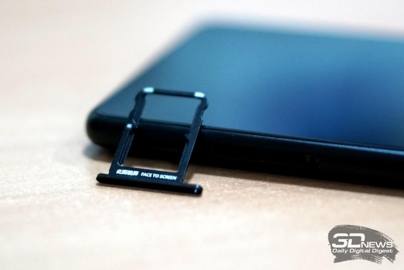 Xiaomi Mi MIX 2, слот для SIM-карт