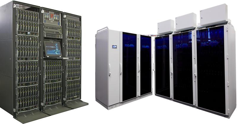 Вычислительные системы МВС-100K и МВС-10П, установленные в Межведомственном суперкомпьютерном центре РАН в Москве