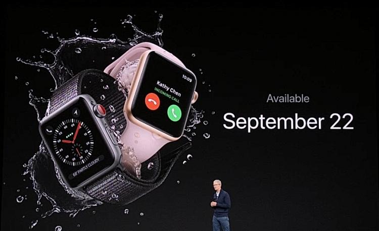 Apple признала проблему с потерей LTE-сигнала на часах Watch Series 3