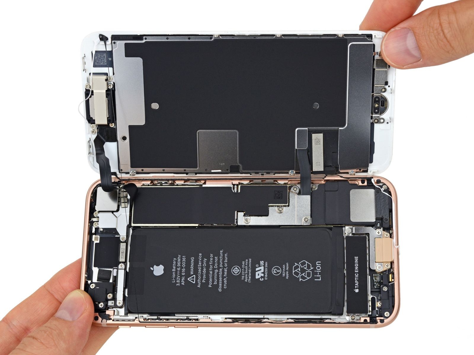 Инженеры разобрали начасти новый iPhone 8