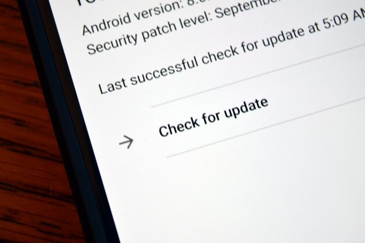 Кнопка проверки обновлений Android станет полезнее
