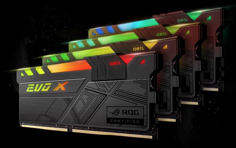 geil3 - GeIL представила память EVO-X RGB DDR4 с сертификацией ASUS ROG