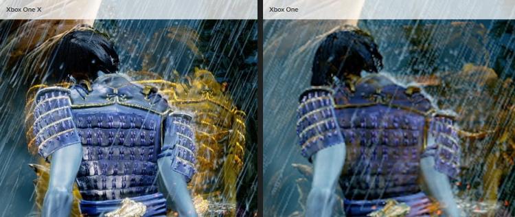 Сравнение версий Xbox One X с базовой Xbox One на 4K-дисплее (фрагмент)