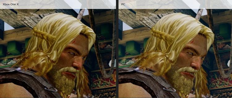 Сравнение версий Xbox One X с ПК на 4K-дисплее (фрагмент)