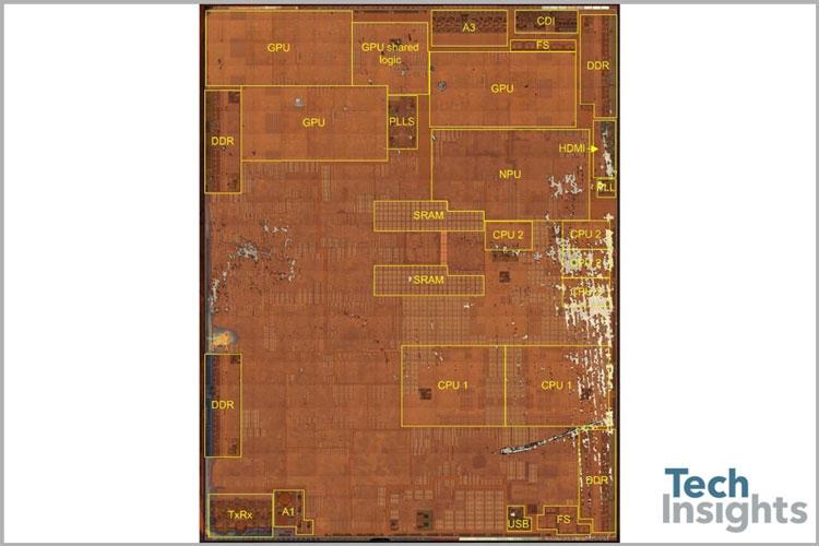 Расположение основных блоков на кристалле Apple A11 Bionic