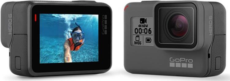 Экшен-камера GoPro Hero6 Black поддерживает запись видео 4K