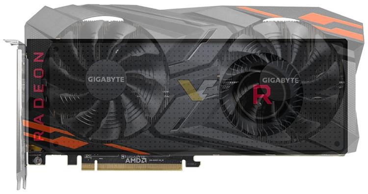 Сравнение габаритов Gigabyte Radeon RX Vega 64 Gaming OC и эталонной карты AMD