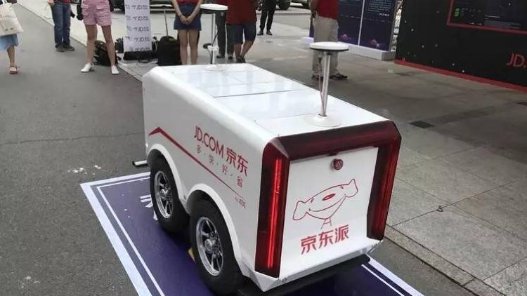 """Jingdong примется развозить товар на собственных беспилотных мини-фургонах"""""""