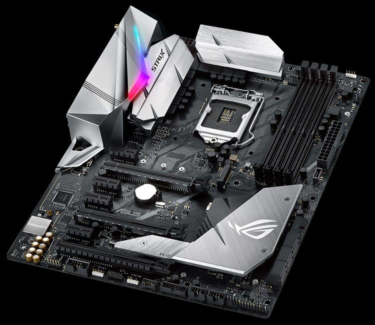 ROG Strix Z370-E Gaming — одна из старших плат ASUS для процессоров Coffee Lake-S