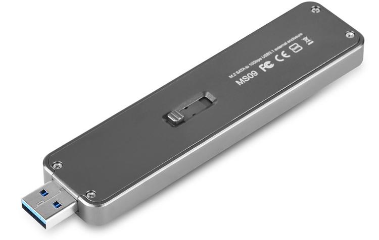 ss2 - Корпус SilverStone MS09C превратит накопитель М.2 в карманный SSD