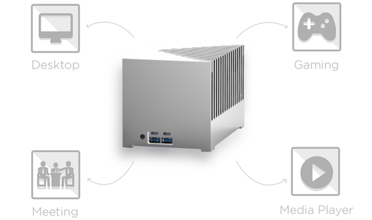 ku3 - Kubb Passive Edition: бесшумный мини-компьютер с процессором Intel Kaby Lake