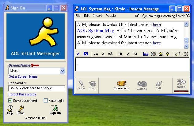 """Один из старейших мессенджеров AOL Instant Messenger закроется в декабре"""""""