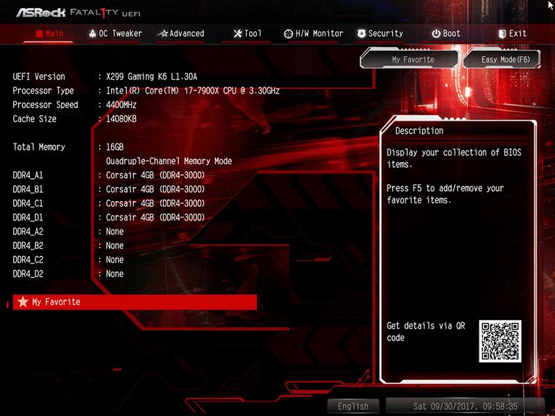 Обзор материнской платы ASRock Fatal1ty X299 Gaming K6: стартовый