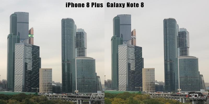Широкоугольный объектив iPhone 8 Plus и Samsung Galaxy Note 8