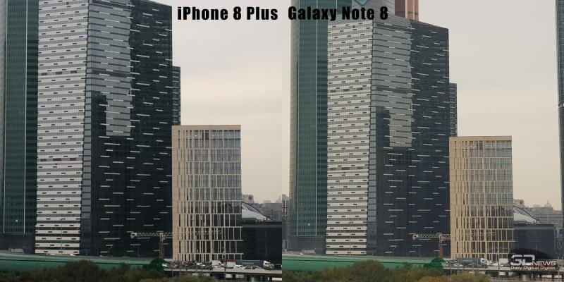 Телефото объектив iPhone 8 Plus и Samsung Galaxy Note 8