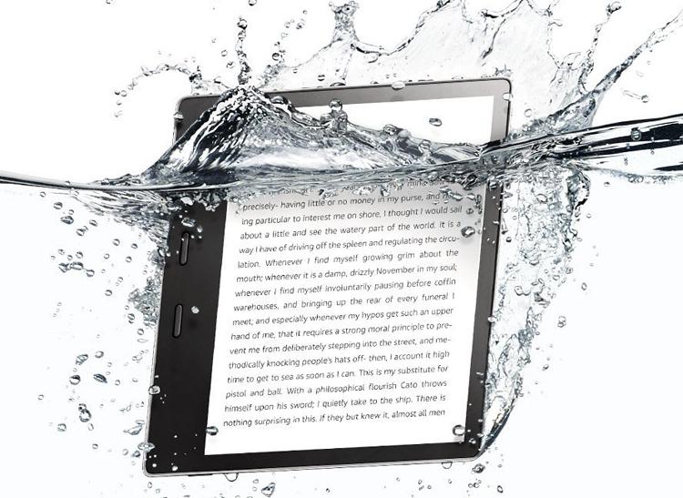"""Ридер Amazon Kindle Oasis имеет влагозащищённое исполнение"""""""