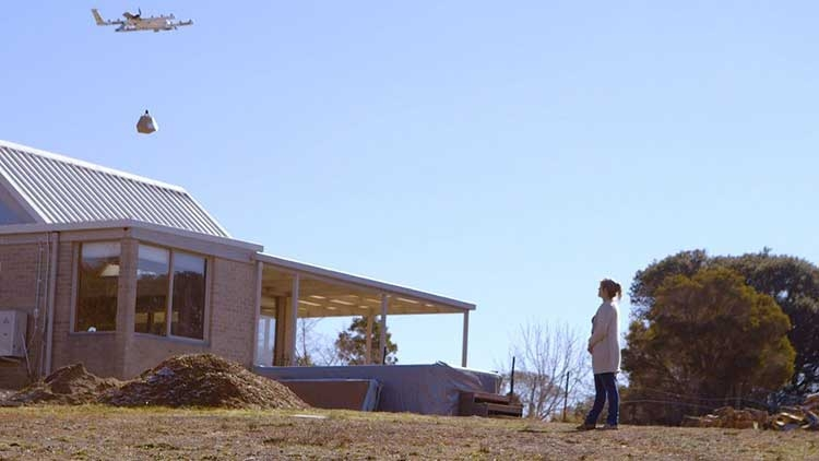"Project Wing опробует доставку дронами в Австралии лекарств и буррито"""
