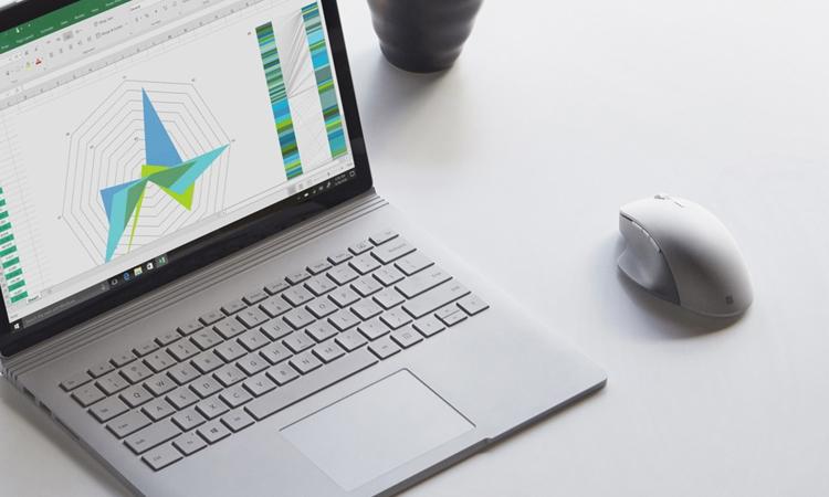 Мышь Microsoft Surface Precision Mouse может работать в проводном и беспроводном режимах
