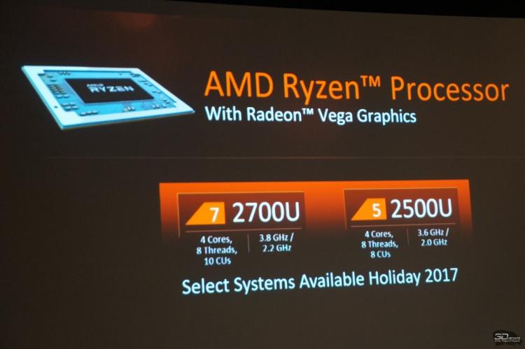 """AMD представила первые APU Ryzen — мобильные чипы 7 2700U и 5 2500U"""""""