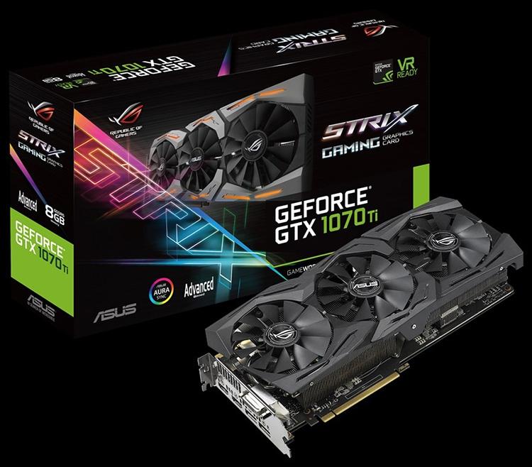 ROG Strix и Turbo: ASUS готова выпустить свои карты GeForce GTX 1070 Ti