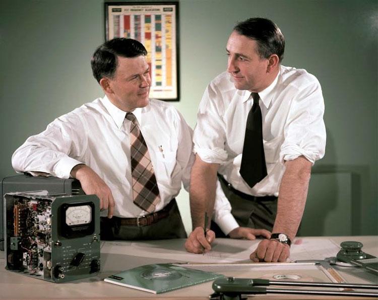 Хьюлетт и Паккард в 50-е (фото Courtesy)