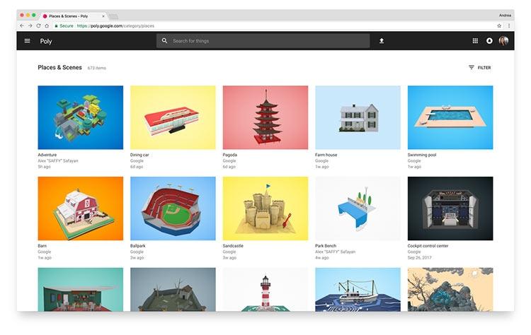 Google представила библиотеку бесплатных 3D-моделей для VR
