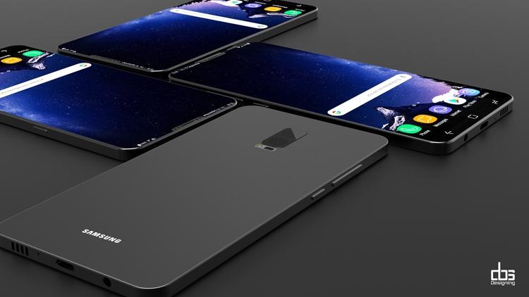 Концепт-арт Galaxy S9 / DBS Designing Behance