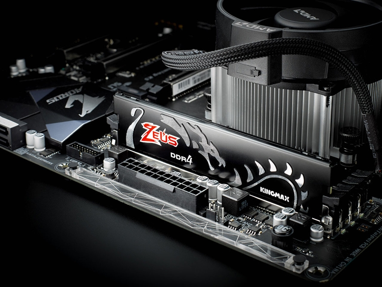 zeus1 - Чёрный и красный: модули памяти Kingmax Zeus Dragon DDR4