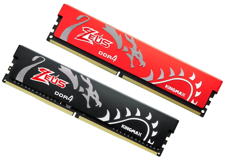 zeus3 - Чёрный и красный: модули памяти Kingmax Zeus Dragon DDR4