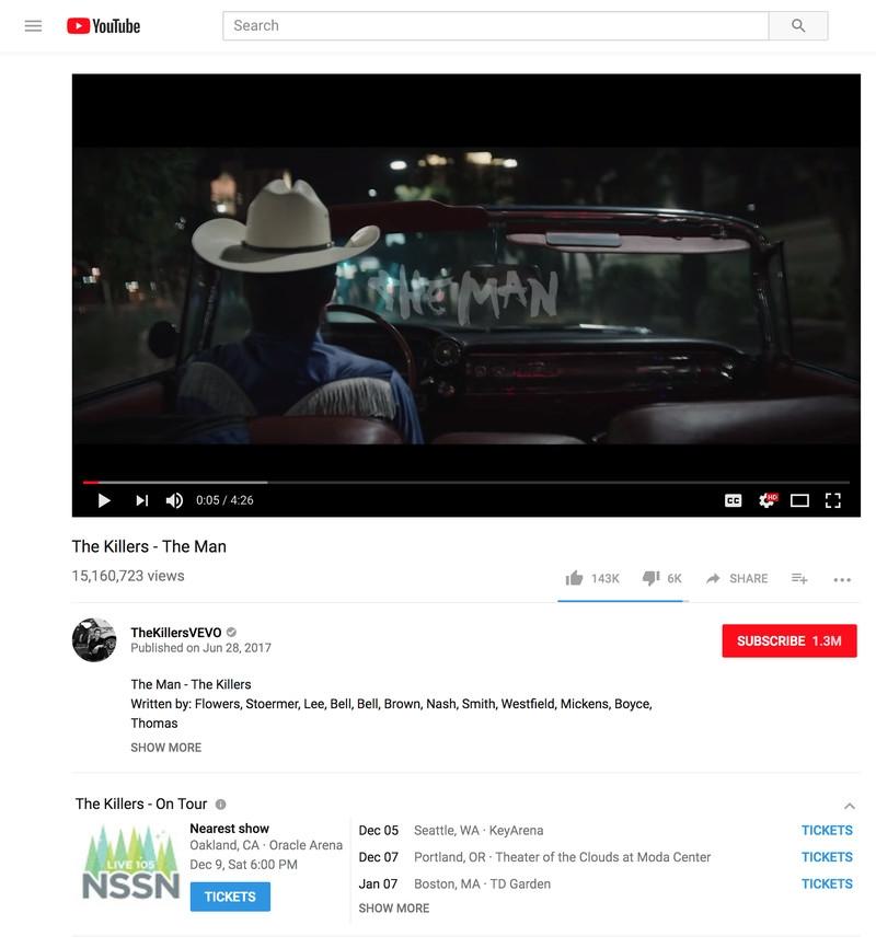 Юзеры смогут покупать билеты наконцерты вYouTube