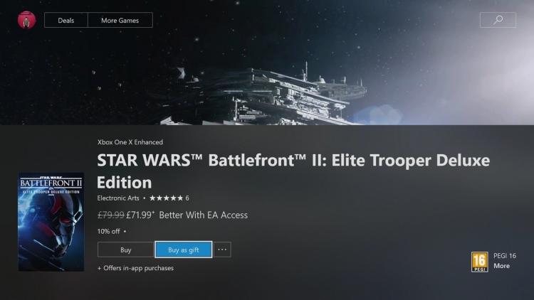 """Функция дарения подарков стала доступна всем пользователям Xbox One"""""""