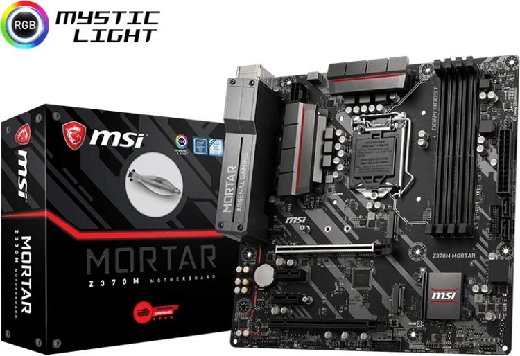 Плата MSI Z370M Mortar позволяет создать компактный ПК на базе Intel Coffee Lake
