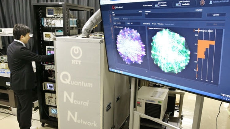 Оптический квантовый компьютер компании NTT