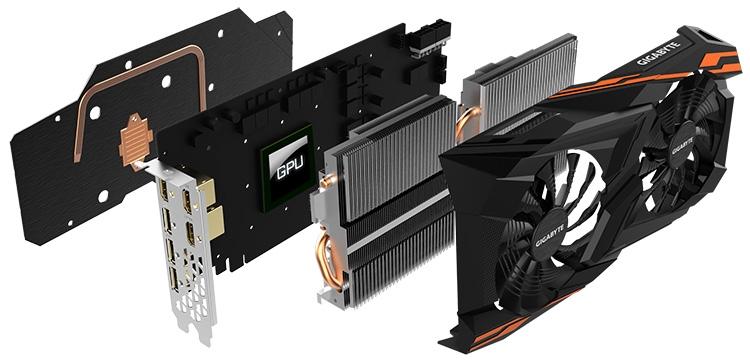 Анатомия видеокарты Gigabyte Radeon RX Vega 64 Gaming OC 8G