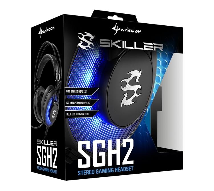"""Sharkoon Skiller SGH2: стереофоническая гарнитура с подсветкой"""""""