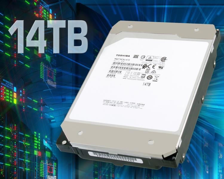 "Toshiba анонсировала «гелиевый» HDD с девятью пластинами ёмкостью 14 Тбайт"""