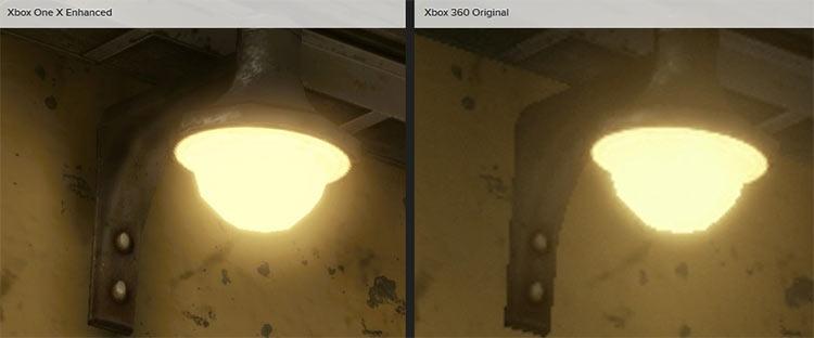 В Gears of War 3 на Xbox One X также появляются тени там, где их не было на оригинальной платформе: оказывается, они просто не успевали подгружаться из-за ограничений Xbox 360