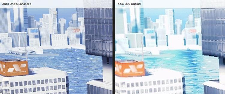 В Mirror's Edge на Xbox One X поддержка HDR несколько меняет стиль игры помимо роста разрешения