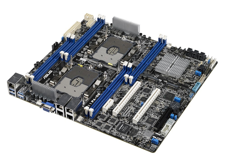 Плата ASUS Z11PA-D8 рассчитана на установку двух чипов Intel Xeon Scalable