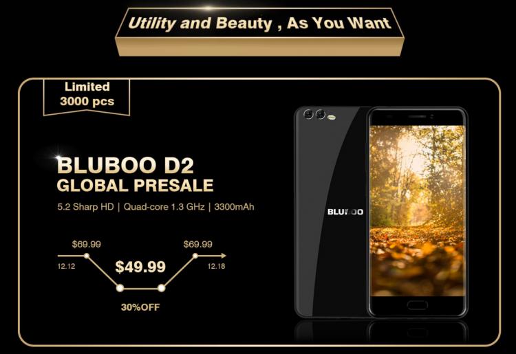 sm.image003.750 - 12 декабря стартуют продажи бюджетного смартфона Bluboo D2 со скидкой 30 %