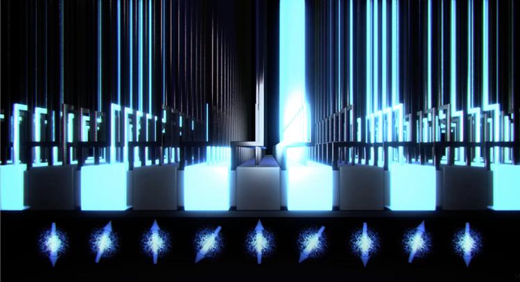 Кремниевый квановый процессор в представлении художника