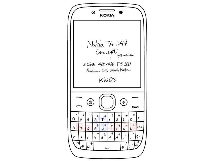 Nokia TA-1047 может оказаться смартфоном с QWERTY-клавиатурой