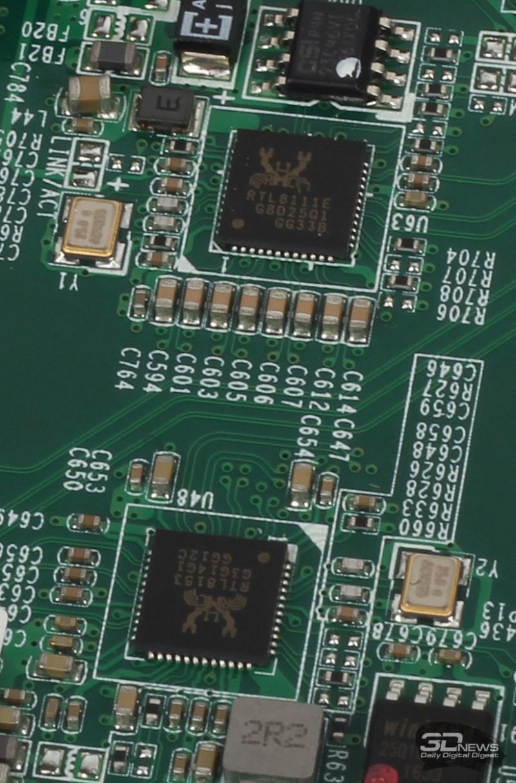 Сетевые интерфейсы Realtek RTL8111E и RTL8153