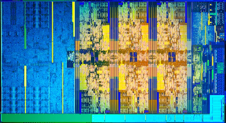 Кристалл настольного процессора Coffee Lake-S с шестью x86-ядрами