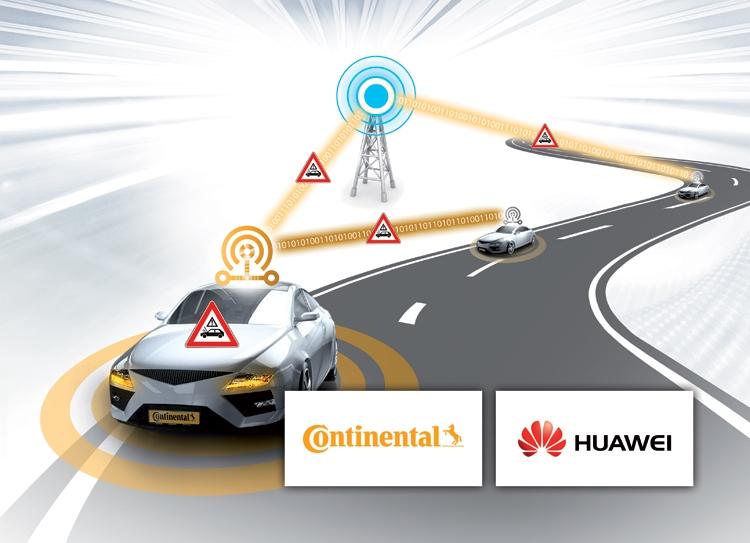 """Continental и Huawei провели полевые испытания платформы коммуникаций C-V2X"""""""