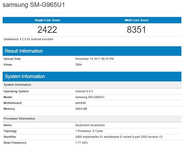 "Samsung Galaxy S9+ на базе Snapdragon 845 проиграл в производительности «Айфонам» на A11 Bionic"""