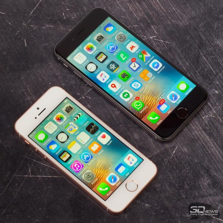 iPhone SE и iPhone 6