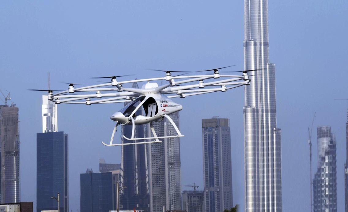 Двухместный электрический VOLOCOPTER с 18-ю винтами поднялся в воздух