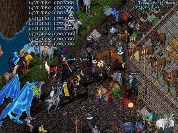 1997 год. Тогда оскорбления в онлайне были далеко не такими затейливыми, как сейчас (скриншот mmorpg.com)